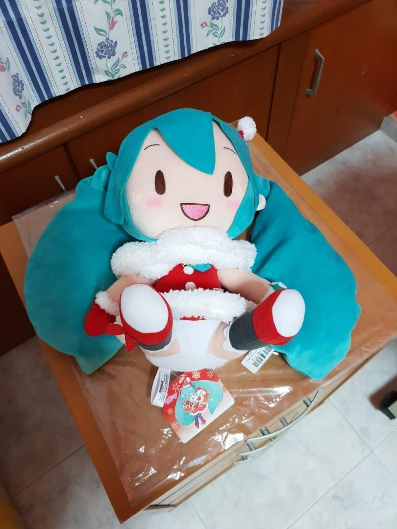 Hatsune Miku Christmas 2018.Authentic Sega Hatsune Miku Christmas 2018 Plush