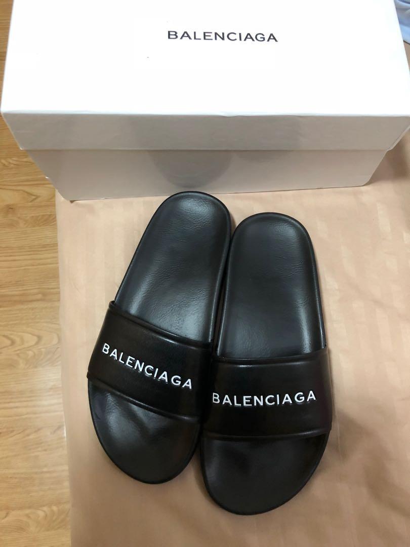 eae85b762f04 Balenciaga pool slides slippers