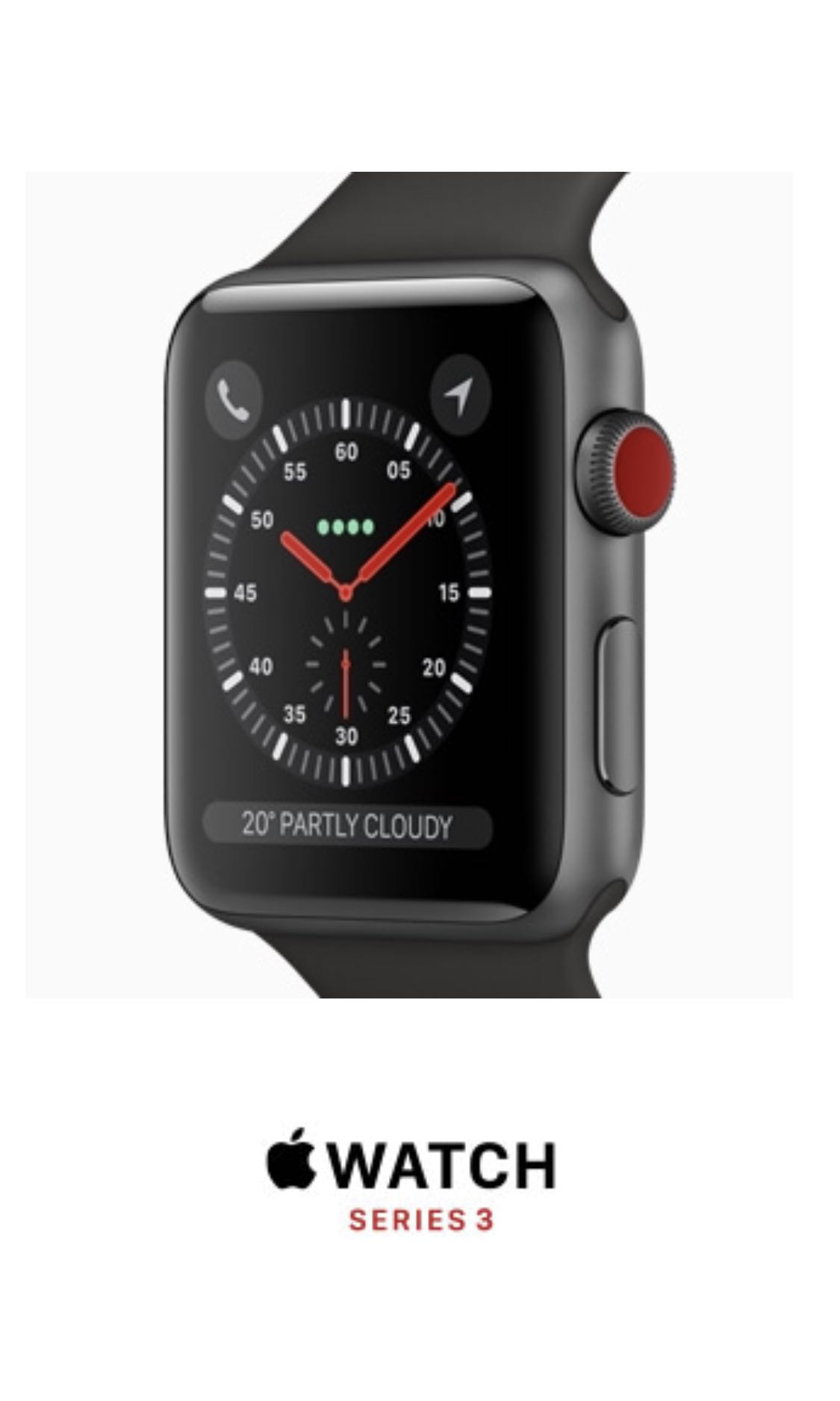 buy online 7ceeb 5b078 BN Apple Watch series 3 GPS + Cellular 42mm