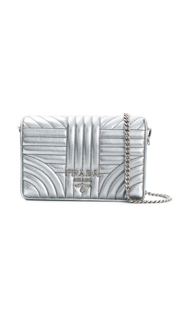 043d291c5c7c BN Authentic Prada Diagramme Shoulder Bag in Cromi, Luxury, Bags ...