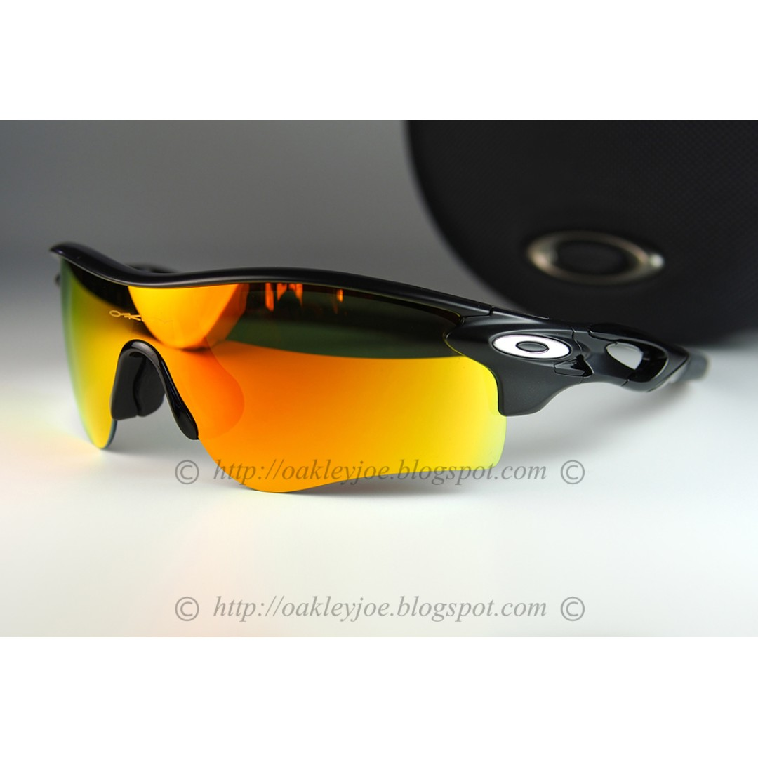 c46f40ce8ff BNIB Oakley Custom Radarlock Path polished black + fire iridium ...