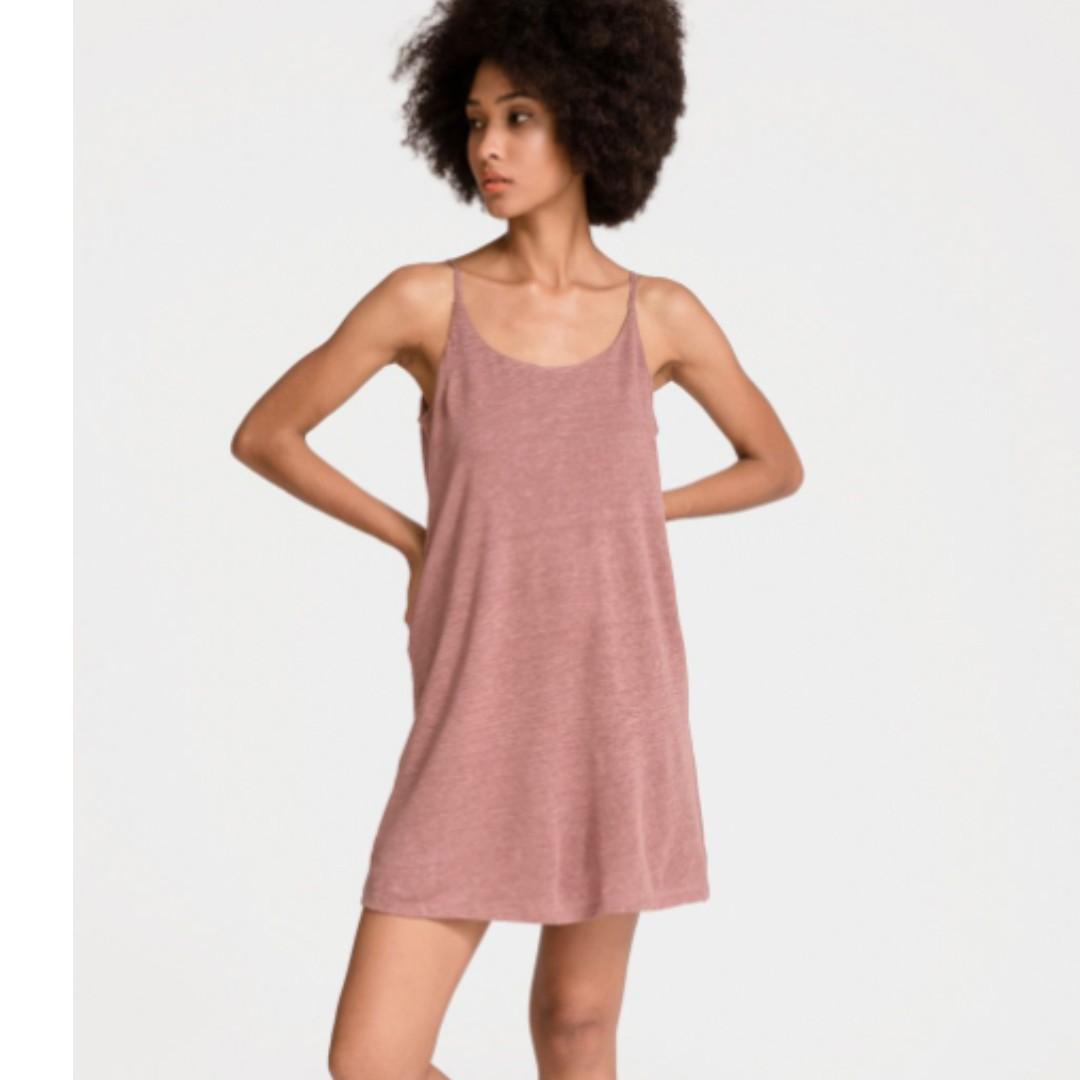 0af89e1d574 BNWT Grana Jersey Linen Camisole Dress