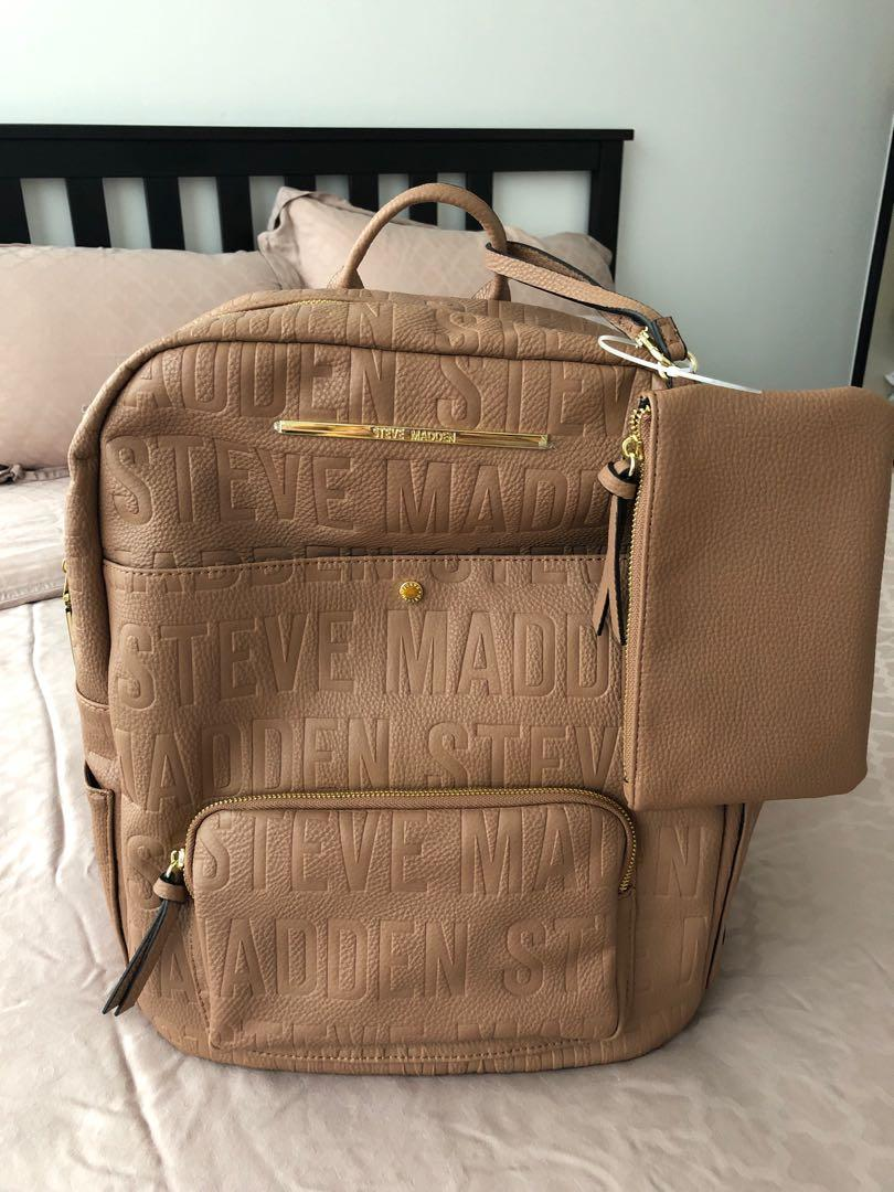 d89e0c366a7 BNWT Steve Madden Backpack (large), Luxury, Bags & Wallets ...