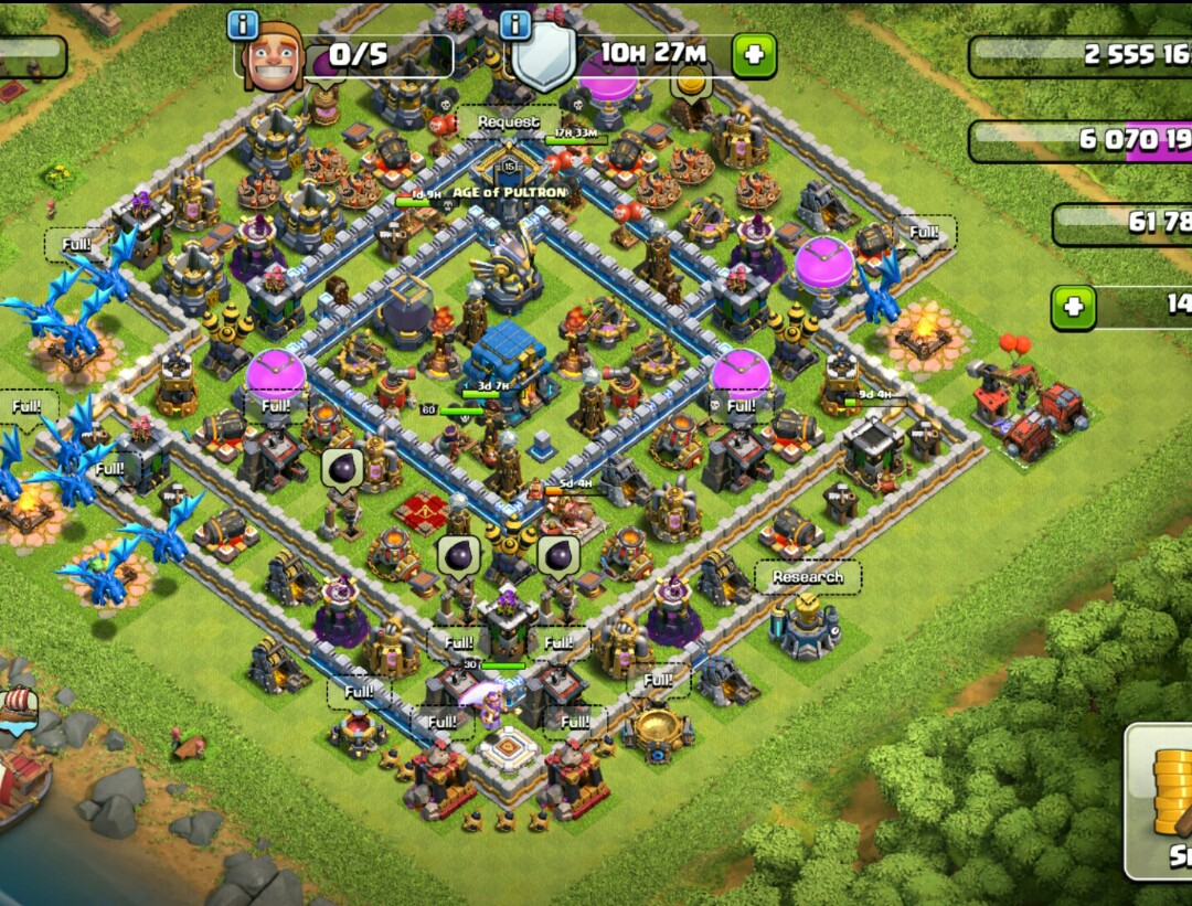 Clash Of Clan Account Th12 Max Archer Queen And Warden