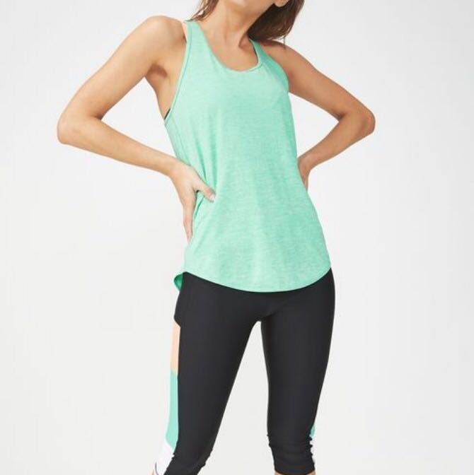 5c984c1bd6438d Cotton On Body  Training Tank Top In Kelly Green Marble