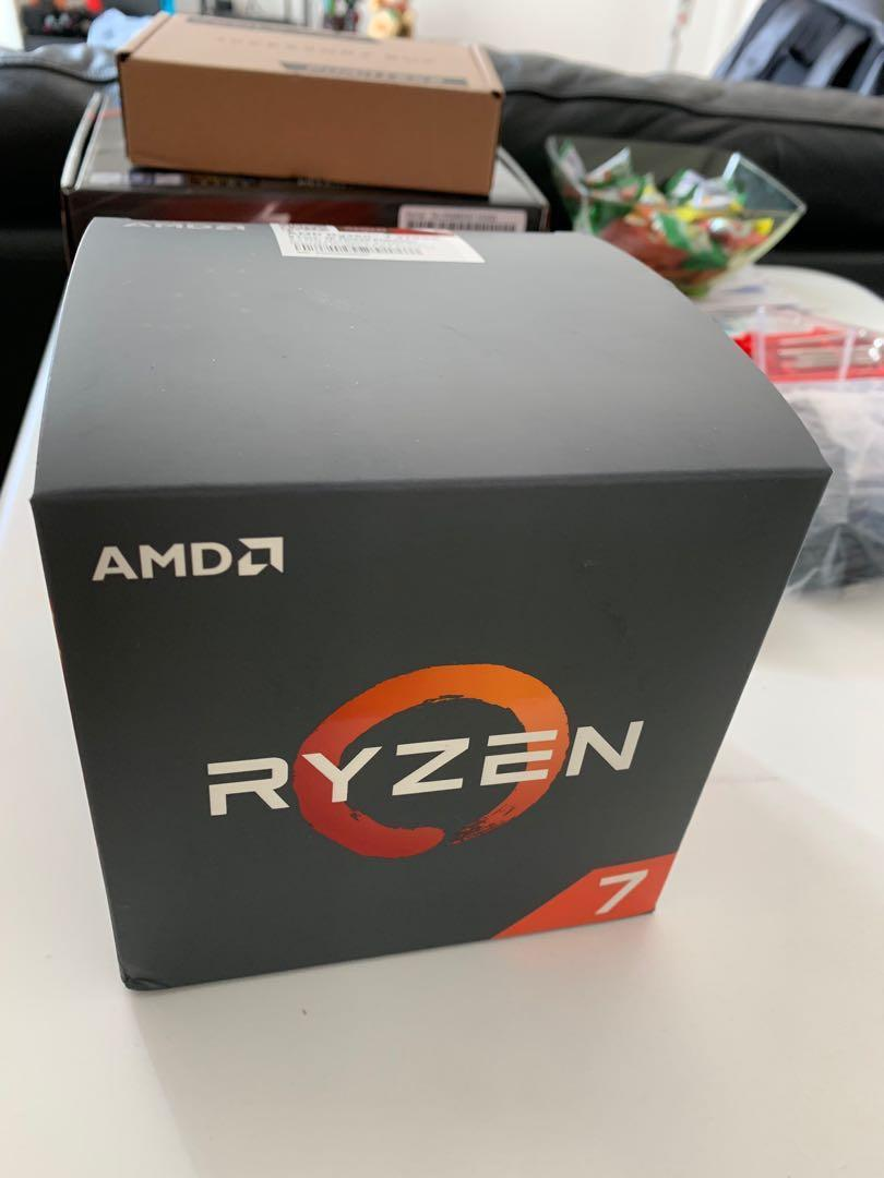 CPU  AMD Ryzen 2700X Processor with Wraith Prism LED Cooler