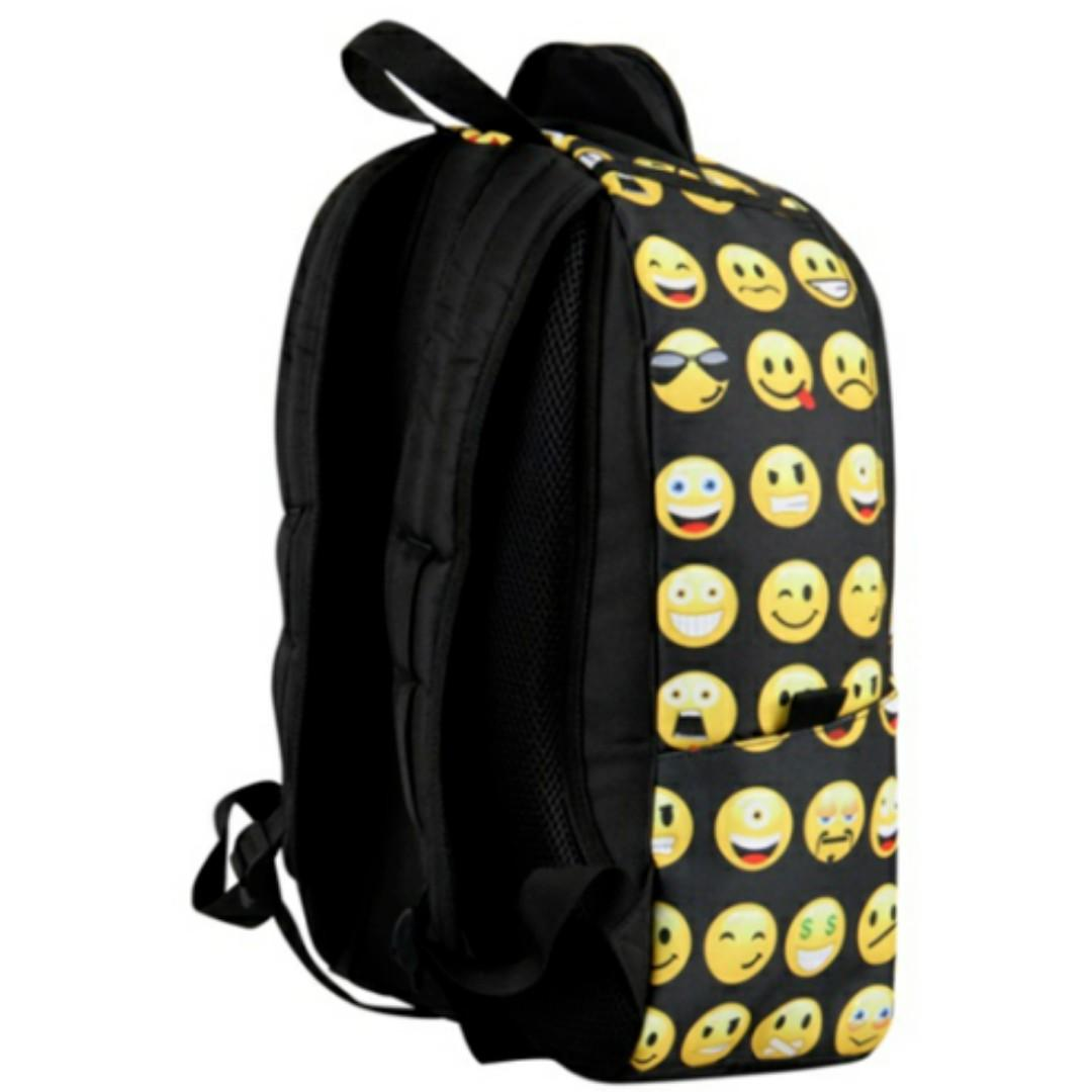 Emoji backpack for school/library/travel for boys and girls