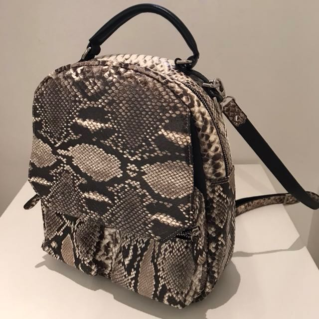 Genuine python backpack