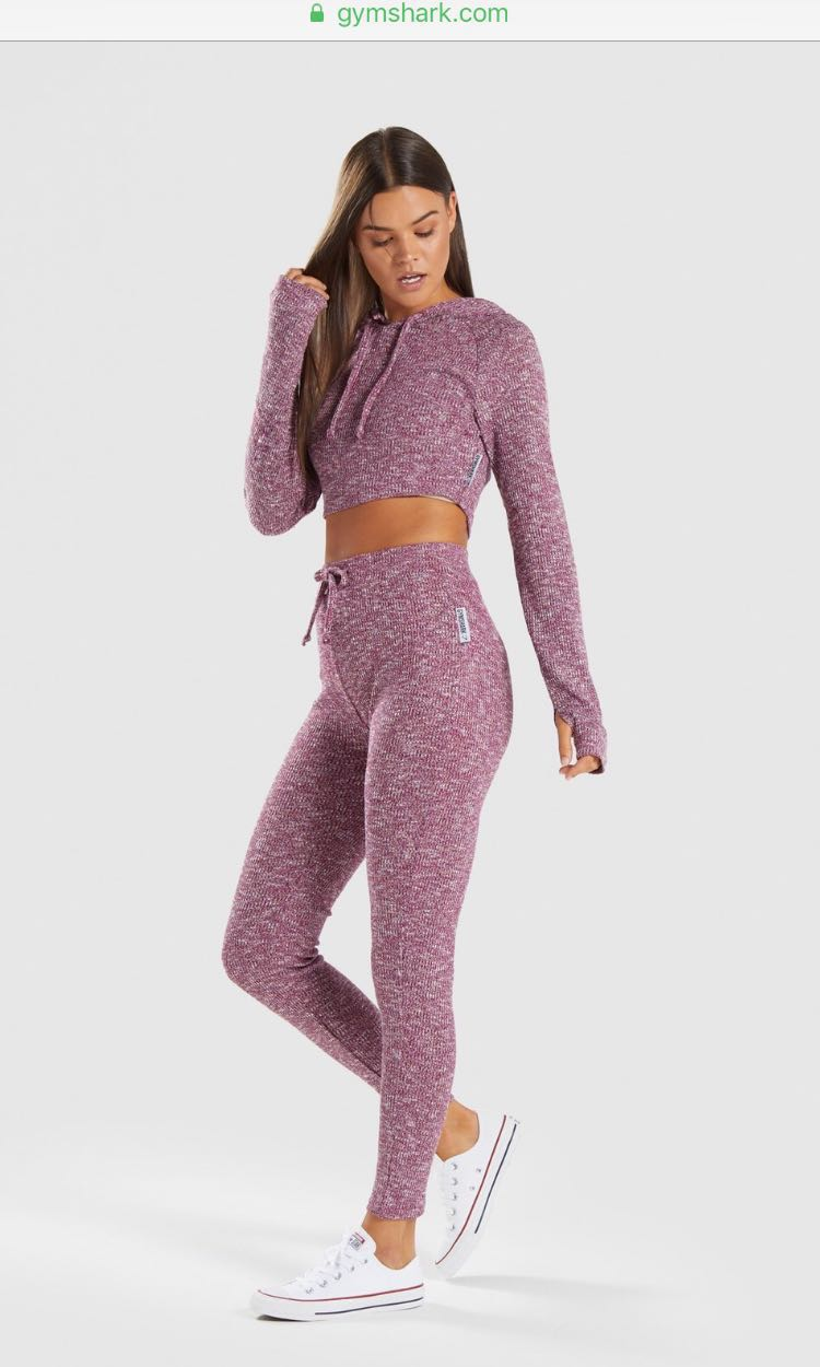 fa4dd77bfb965 Gymshark Slounge Leggings - Deep Plum Marl, Women's Fashion, Clothes, Pants,  Jeans & Shorts on Carousell