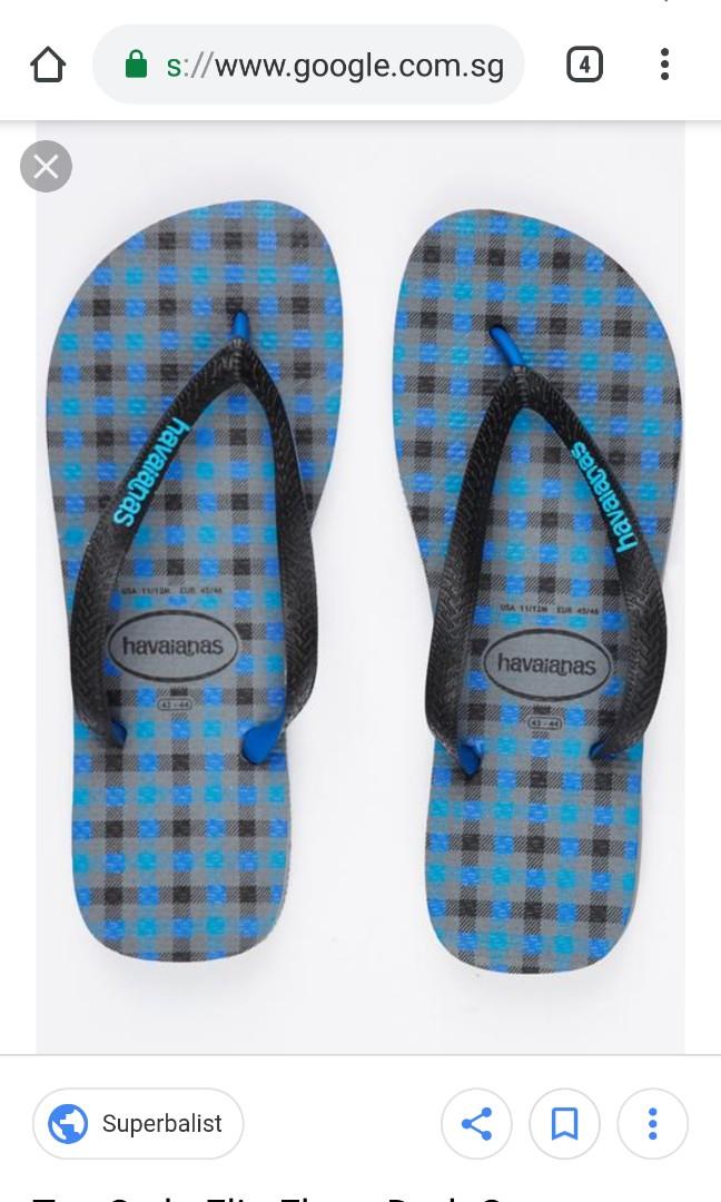 37605bd53895 Havaianas Blue Plaid Slippers