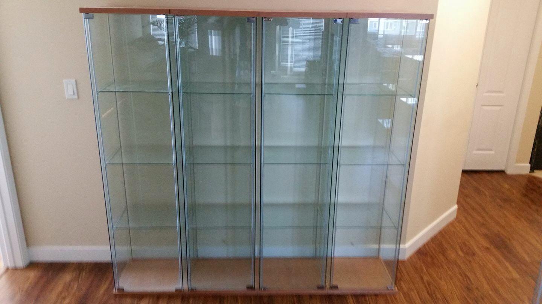 Ikea DETOLF Glass Display Cabinet Almari Rak Kaca Ikea, Home ...