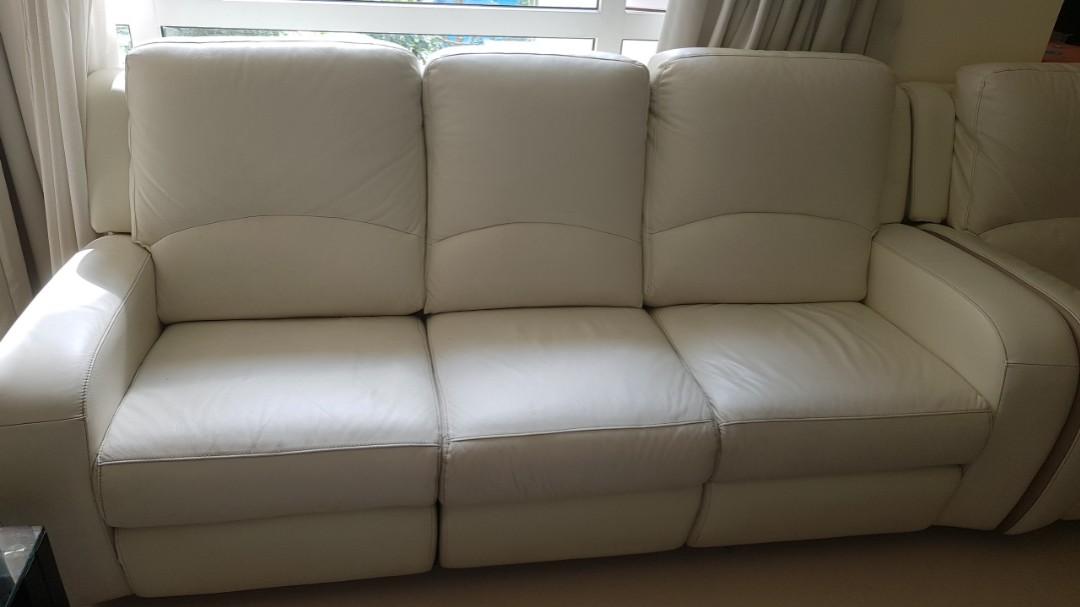 Italian Leather Sofa 3 2 Recliner Zolano Brand Price Nego