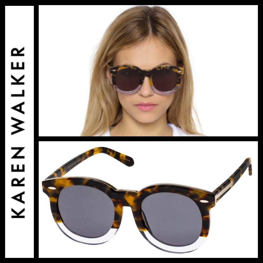 5decf4dc364 KAREN WALKER SUPER DUPER THISTLE TORTOISE CLEAR   GOLD