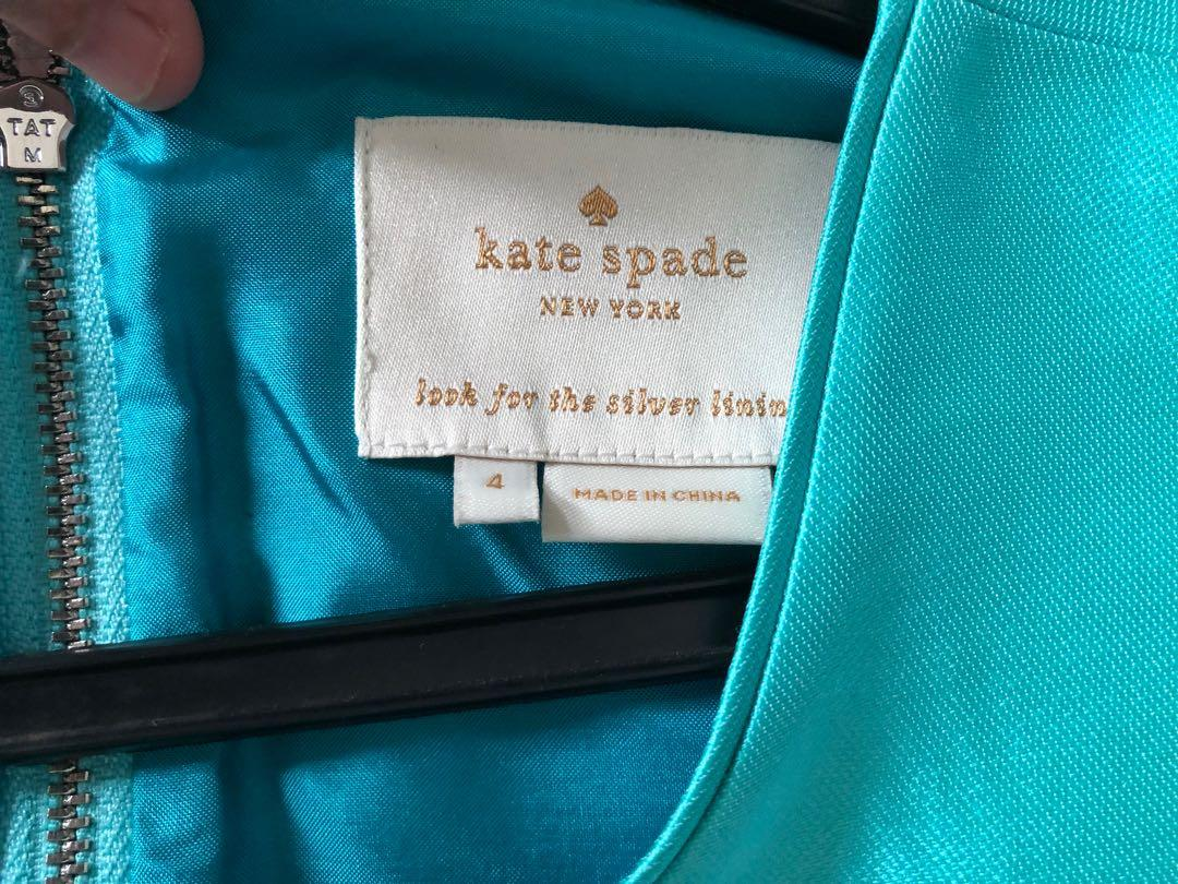 Kate spade turquoise sheath dress (size 4, lovely sheen, hardly worn heavily discounted >90% off)