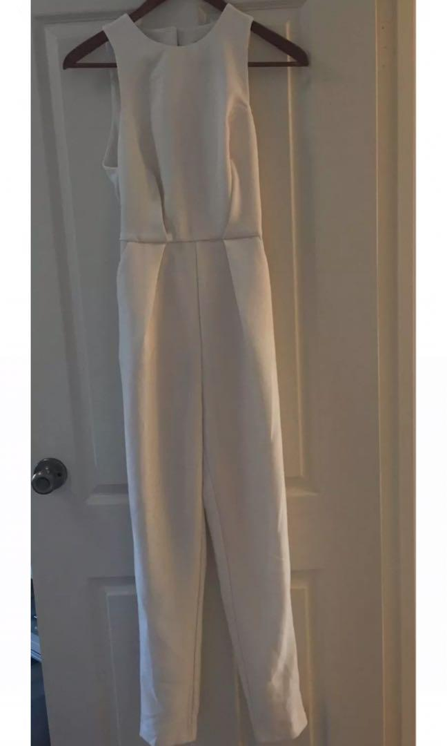 Kookai White High Neck Jumpsuit - Size 6/8