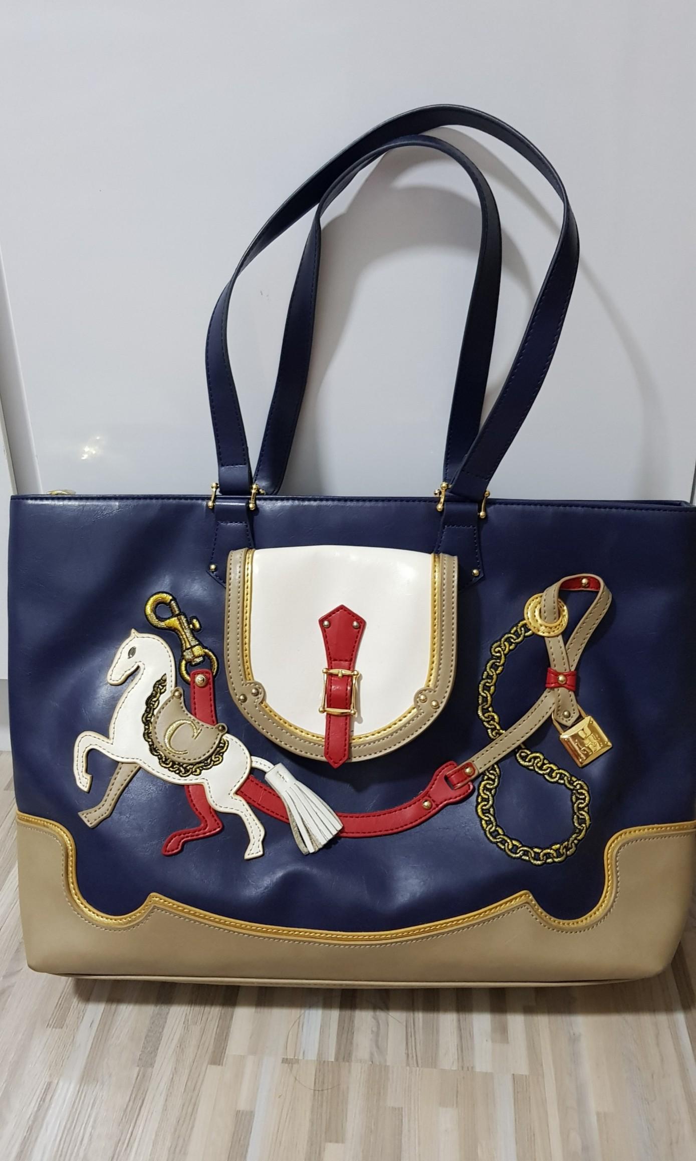 d9d4e20f0b La Palette Handbag Cupcake Series - Horse Design (Dark blue ...