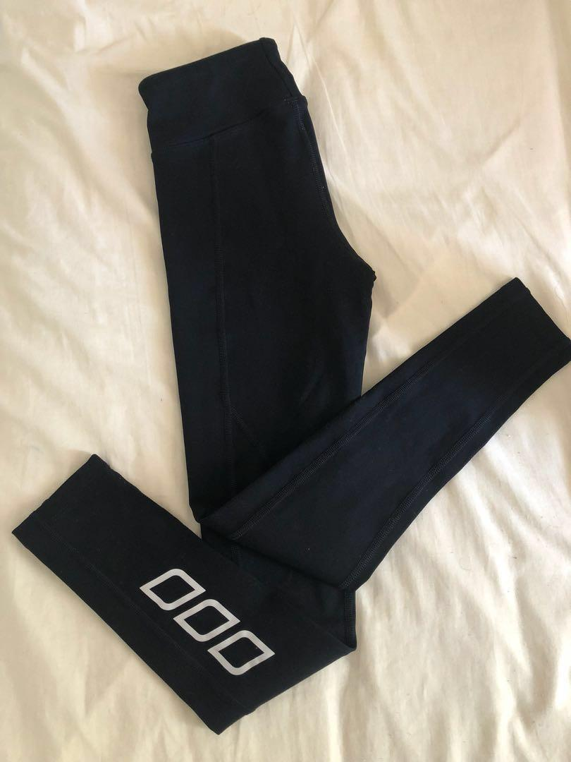 Lorna Jane black full length leggings gym tights xs worn once no flaws excellent condition tummy control