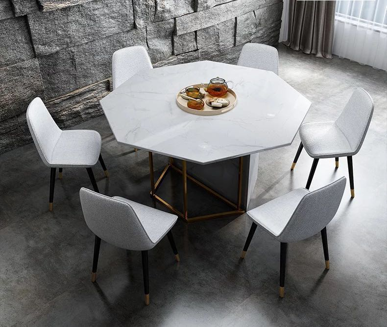 Marble Dining Set Table Chairs