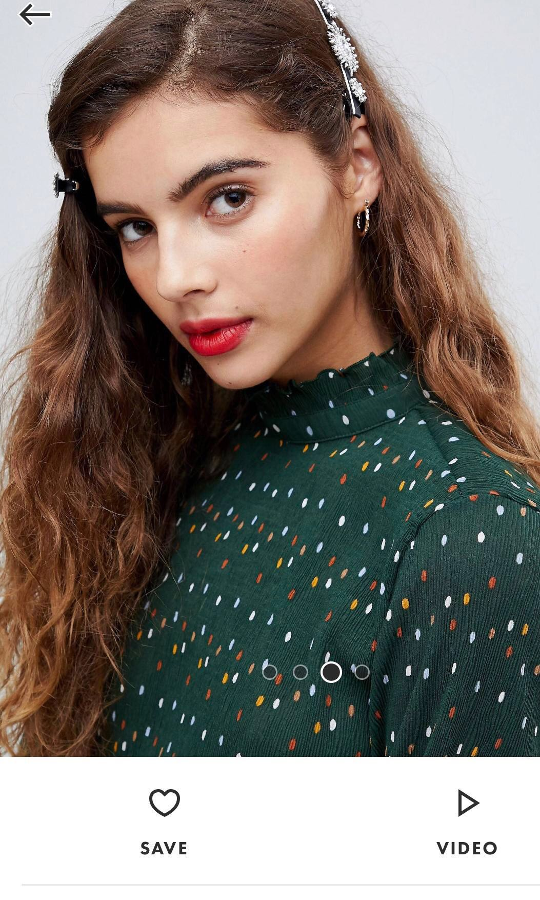 4a207a5dd MONKI High Neck Wrinkle Top in Polka Dots, Women's Fashion, Clothes ...