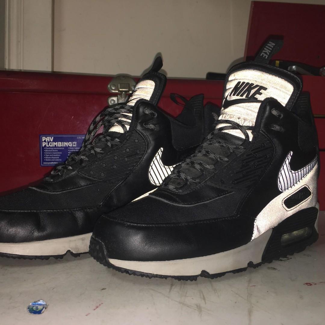 Nike Air Max 90 Sneakerboot 'Grey/Black' *RARE* 2014 Men's US8.5