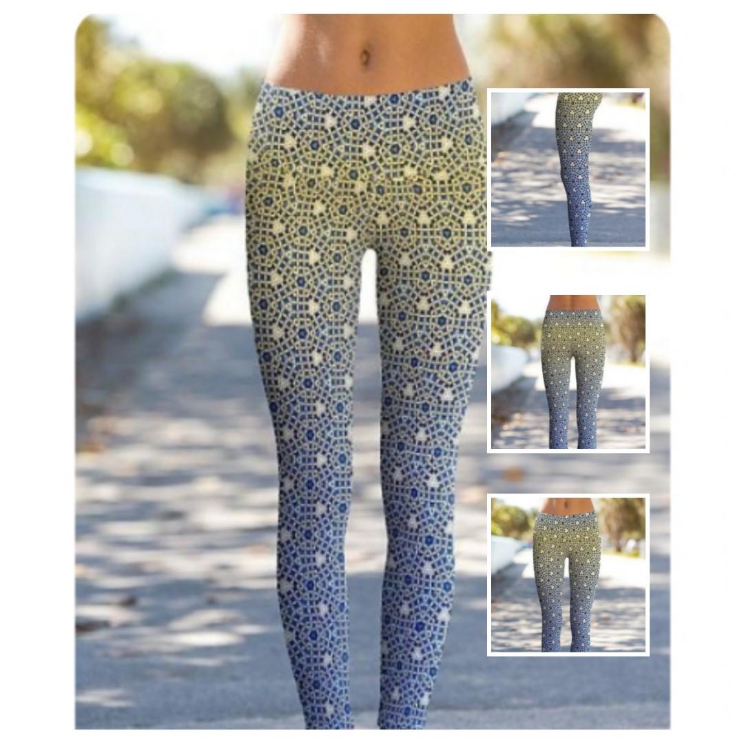 c23a993bc5c54 Om Shanti Power Pants Sapphires and Diamonds, Sports, Sports Apparel ...