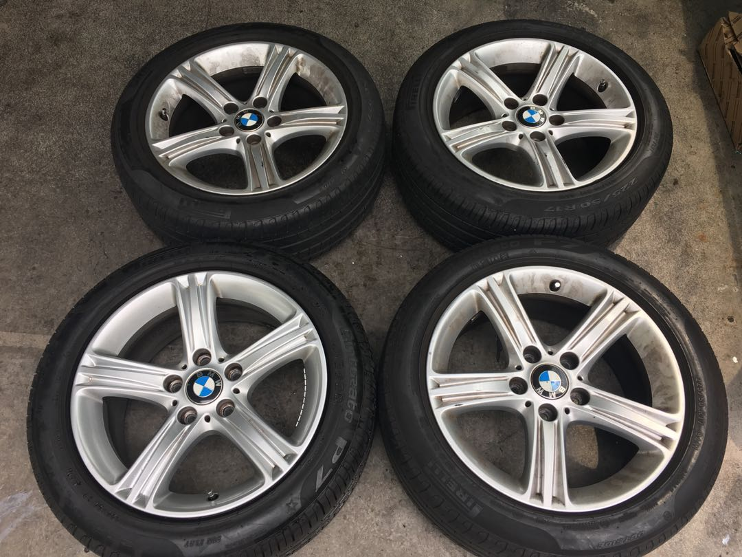 Original Bmw 17 Rims W Run Flat Pirelli Cinturato P7 Tyres Car