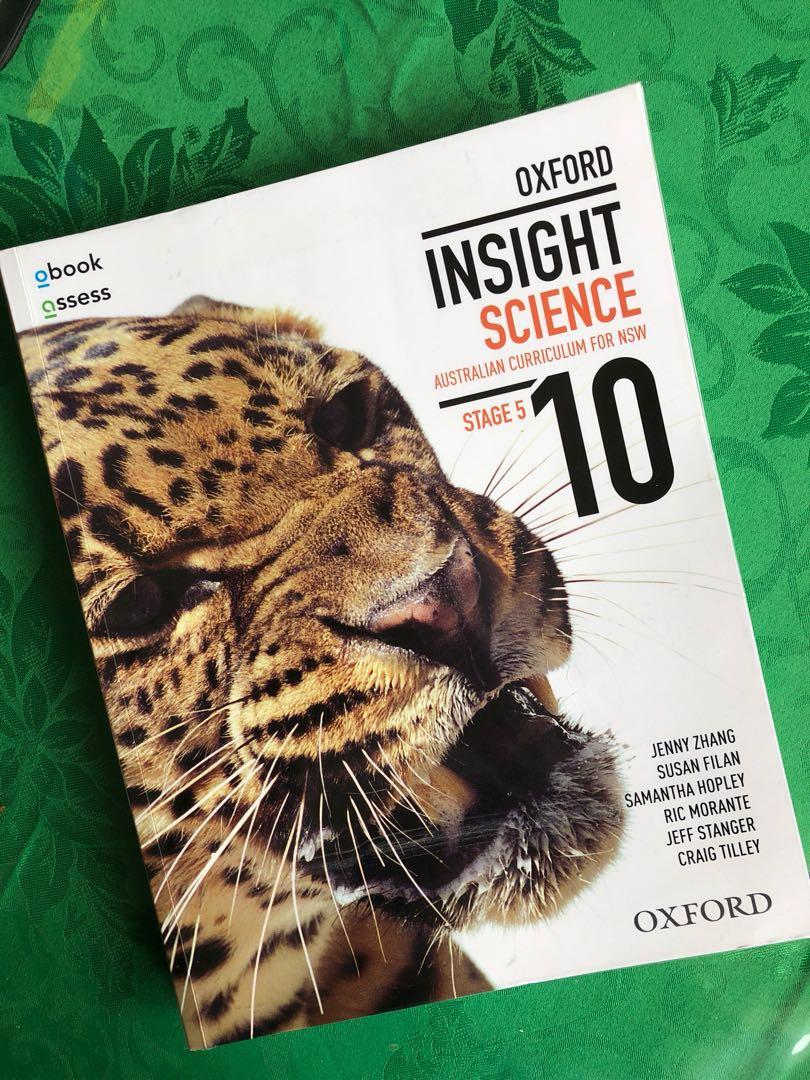 Oxford Insight Science Stage 5 textbook [Jenny Zhang et al]