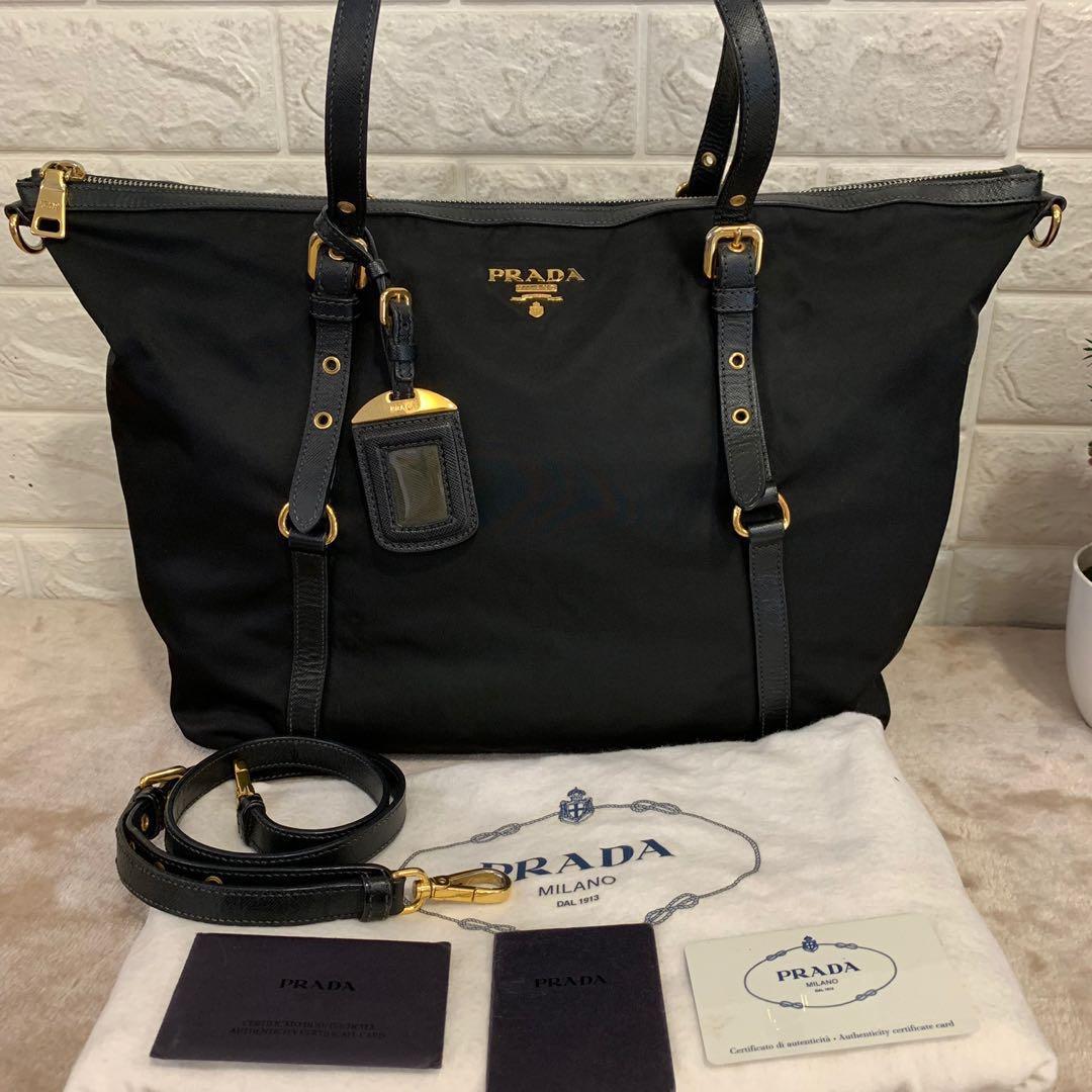 8259e1a3dd113f Prada Bag BR4253 tessuto saffian nero, Luxury, Bags & Wallets ...