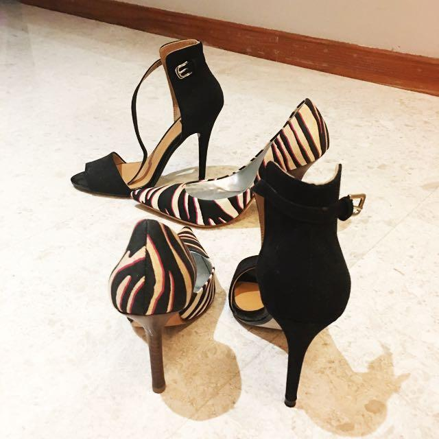 Price Reduced! Brand New Guess Marciano Stilettos + Zara Black Heels
