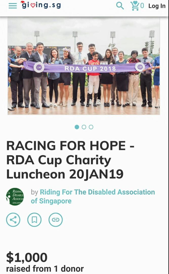 RDA CUP 2019 - CHARITY LUNCHEON