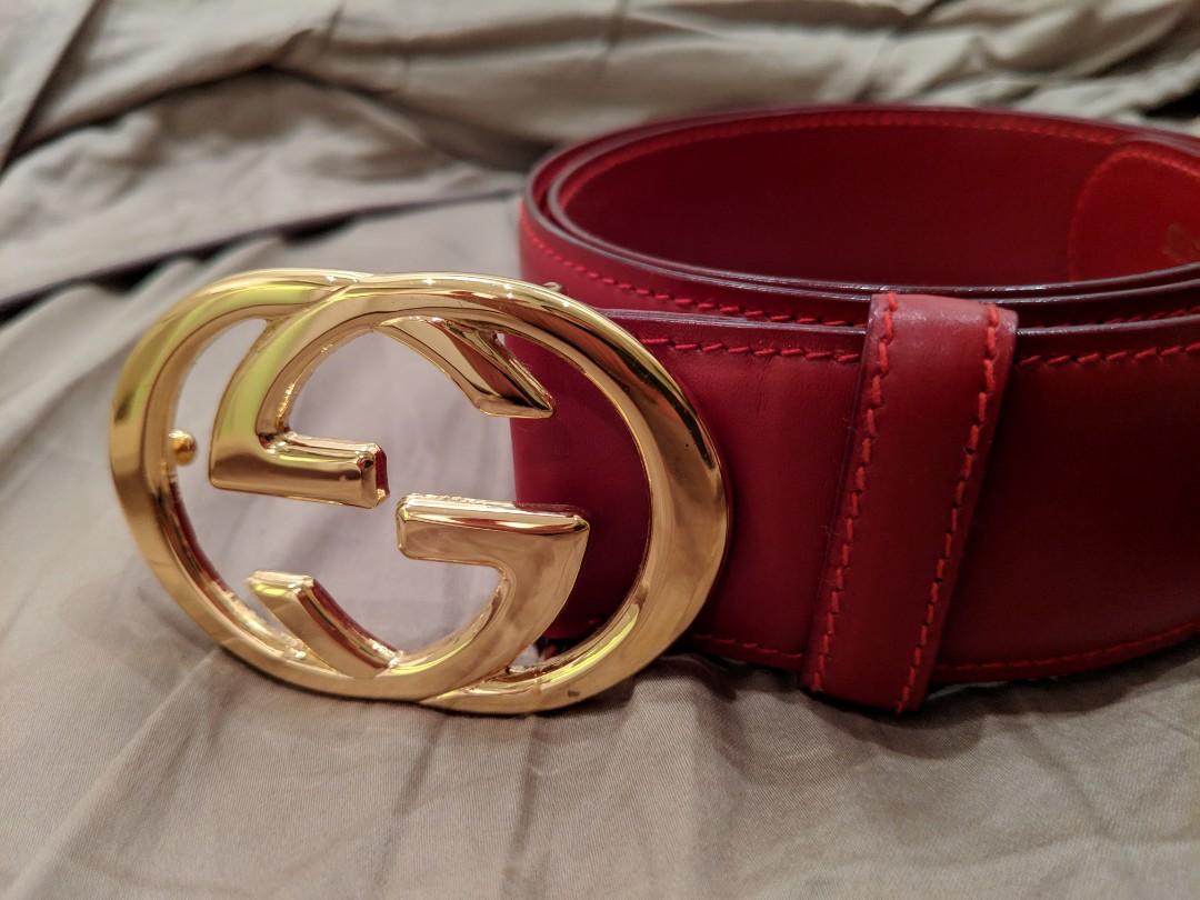 da9171c1e01 Red gucci classic belt