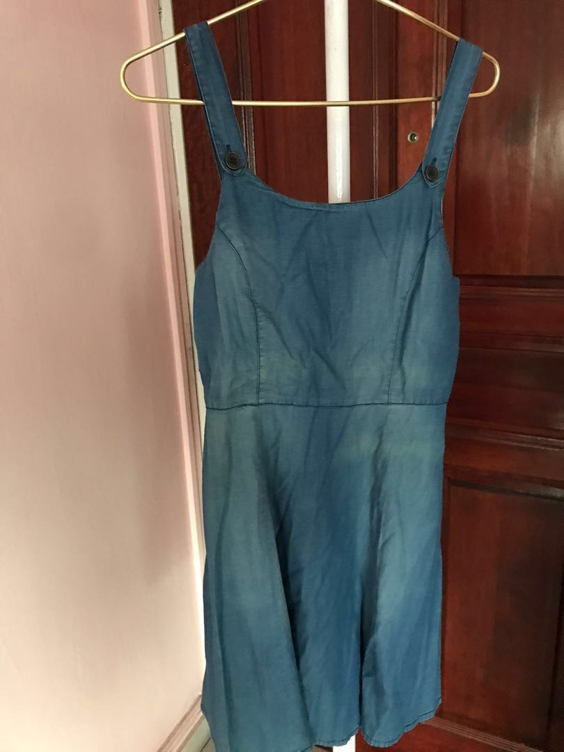 Good Prices shopping official shop River Island Pinafore Denim Dress
