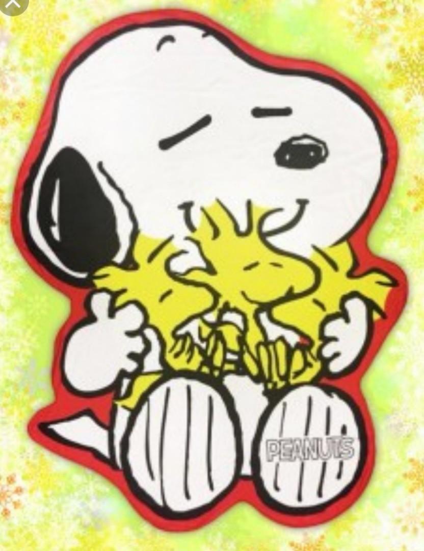 Snoopy die cut big blanket
