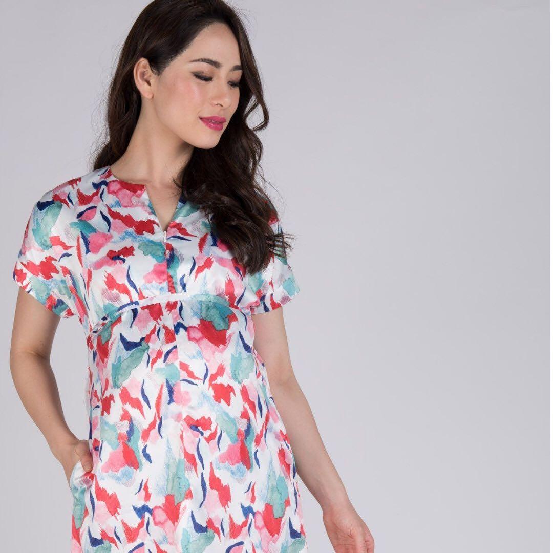 edaa57533066f Spring Time Nursing Midi Dress from Jump Eat Cry, Women's Fashion ...