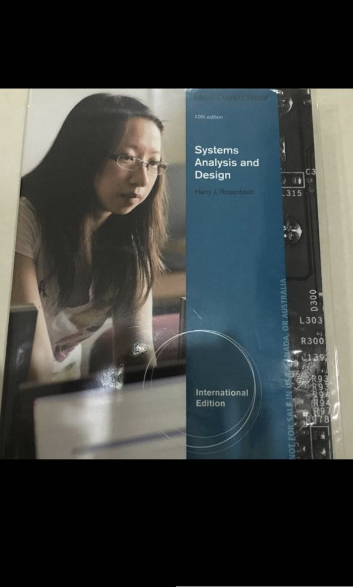 System Analysis Design Books Stationery Textbooks Tertiary On Carousell