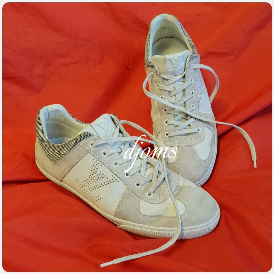 04e19b62f564 🛑Sz 8.5 Louis Vuitton Mens Lace Up Low Sneakers Shoes