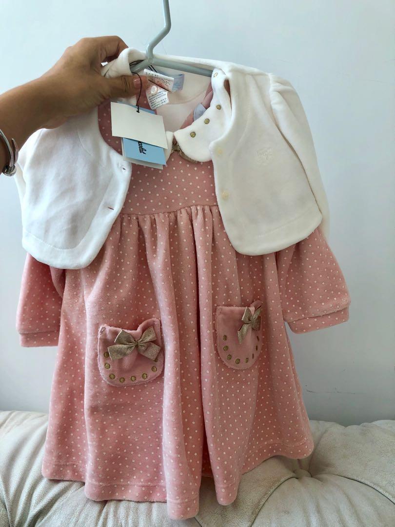 Tatien et chocolat girl dress and cardigan set