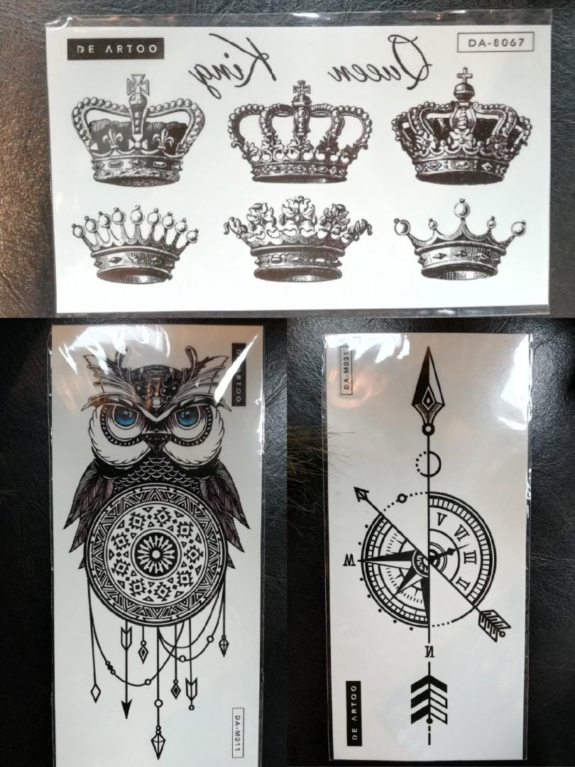 Temporary Body Art Tattoo Sticker Design Craft Art Prints On Carousell