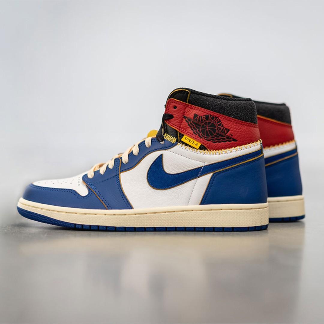 2c636d2f19b Union x Air Jordan 1 (Storm Blue / Blue Toe)