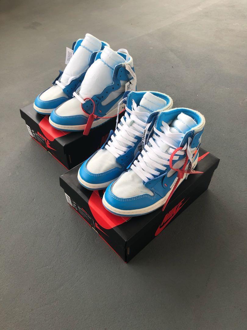 51d434470a2d US7.5 Off White x Nike Air Jordan 1 UNC