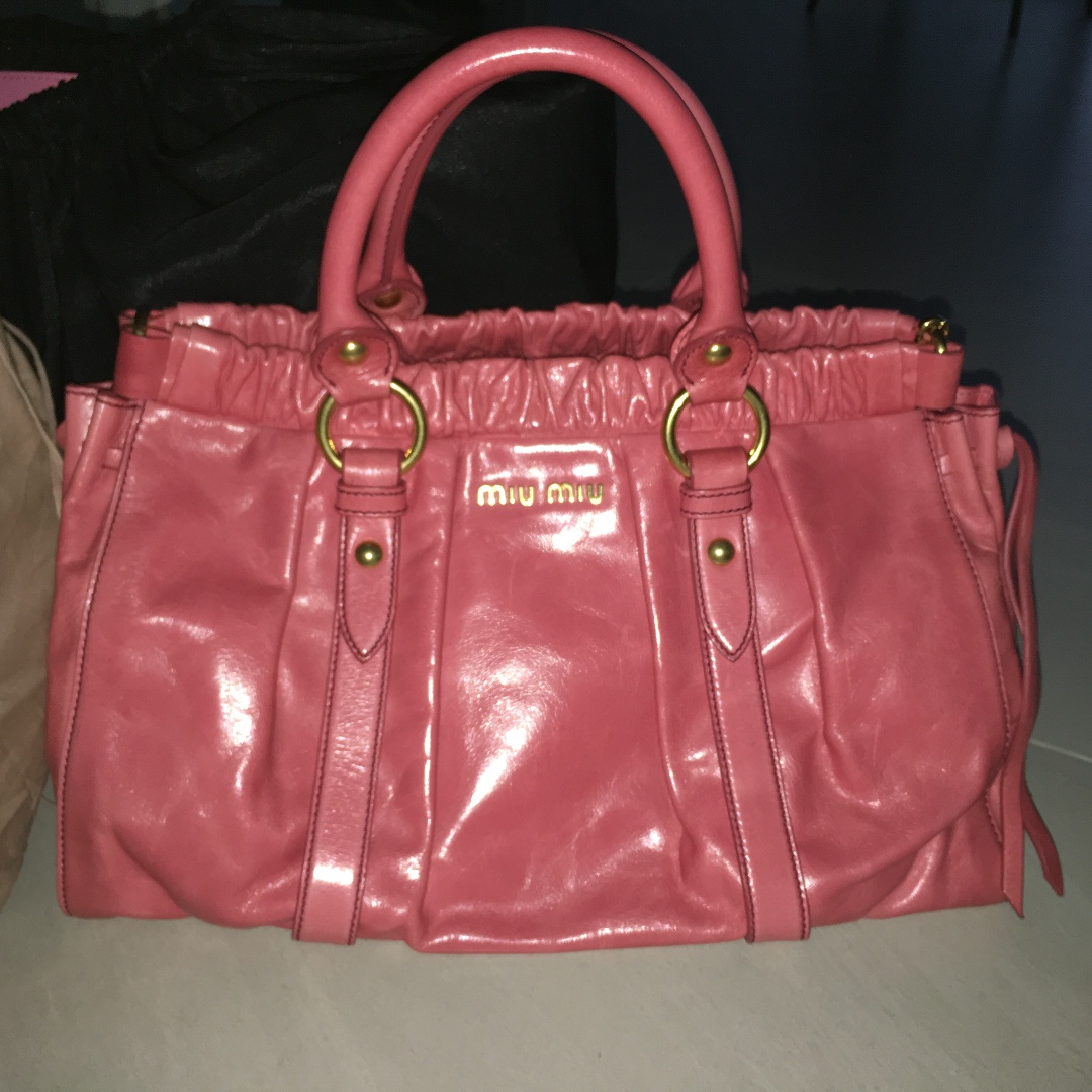b78304f881d4 Brand New Vitello Lux Miu Miu In Pink