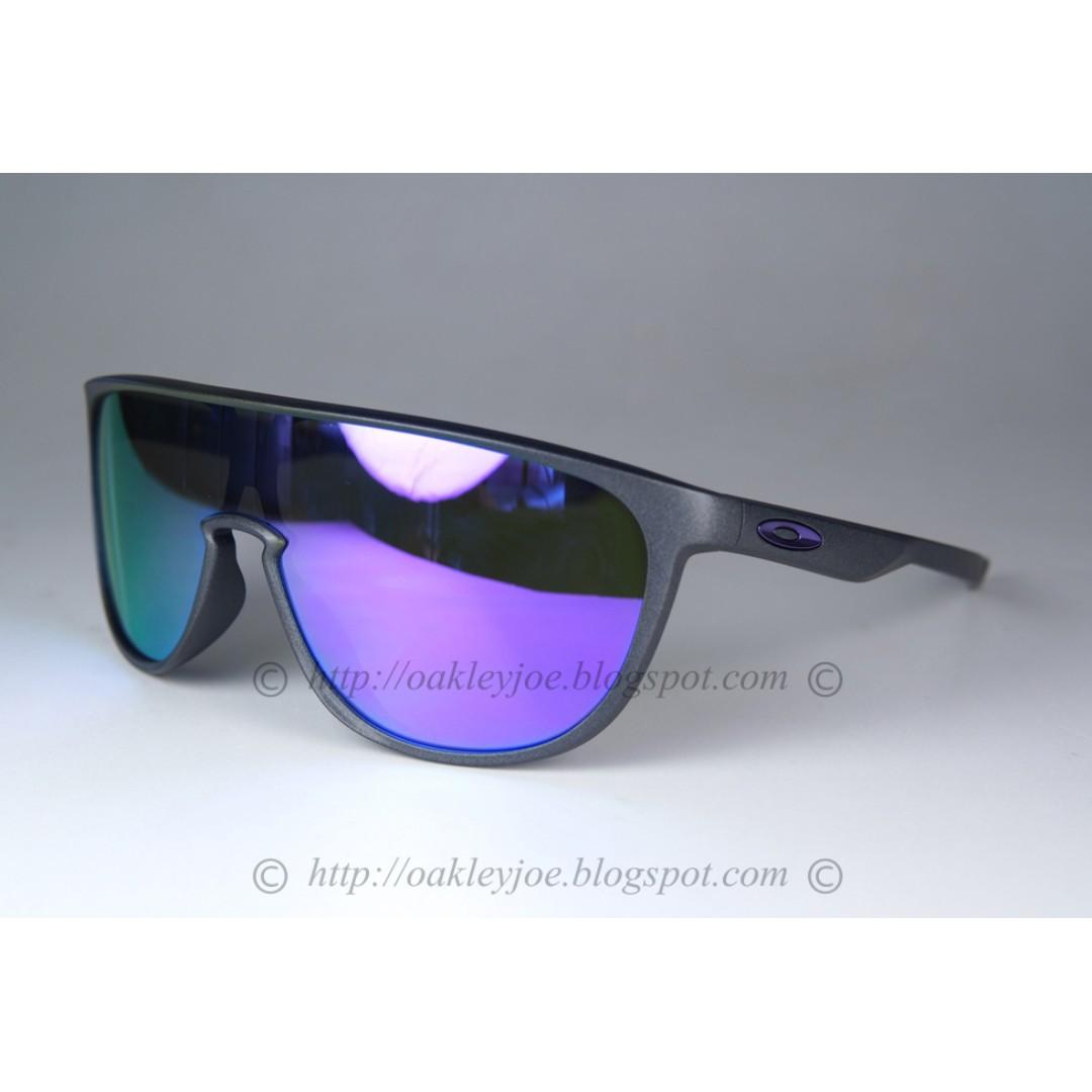 6ae7a214f4 Xmas Sale! BNIB Oakley Trillbe steel + violet iridium oo9318-04 ...