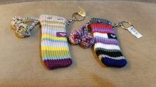 Roxy 冷襪仔形匙扣2個