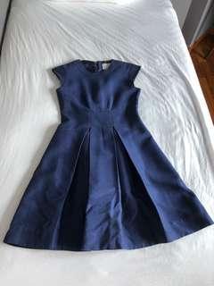 Kate spade navy blue flare dress (size 4)