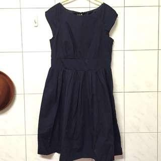 🚚 日本購入earth氣質靛色洋裝