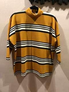 STRADIVARIUS Striped Top, L, New