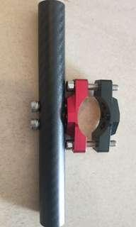 Carbon fiber Kiddy Bar with mounting