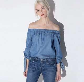 Denim colour top