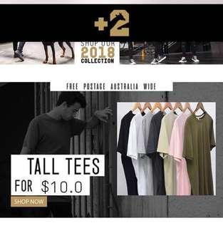Plus2Clothing Tall Tee