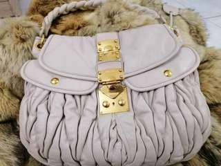 authentic miu miu bow bag with strap